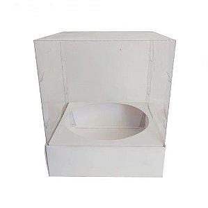 Caixa para panetone 250g branca pacote com 5 - 12x12 - Assk