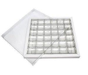 Caixa pvc com berço N.5 branca 23X23X02 pacote com 5 - Assk