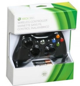 Controle Xbox 360 sem fio Preto