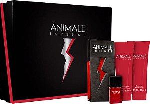 Kit Animale Intense For Men Eau de Toilette 100ml + Loção Pós-Barba 90ml + Sabonete 90ml + Eau de Parfum 7,5ml