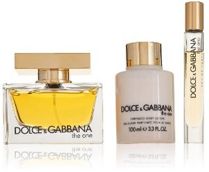 Kit Dolce & Gabbana The One Eau de Parfum 75ml + Loção Corporal 100ml + Miniatura 7,4ml