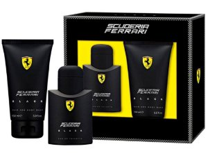Kit Ferrari Black Eau De Toilette Ferrari 75ML + Shower Gel 150ML - Masculinos