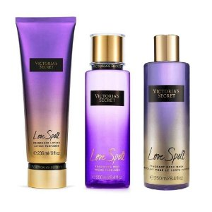 Kit Love Spell Victoria's Secret - Brume Parfumée 250ml + Lotion Parfumée 236ml + Body Wash Parfumé 250ml