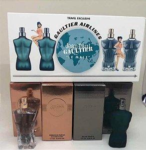 Kit Miniaturas Jean Paul Gaultier Le Male Travel Exclusive 4 Peças