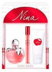 Kit Nina Ricci Nina Eau de Toilette 80ML + Mini 10ML + Loção Corporal 75ML - Perfume Feminino