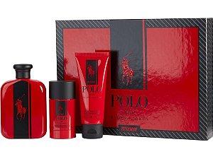KIt Polo Red Intense Eau de Parfum 125ml + Shower Gel 100ml + Desodorante 75ml - Masculino