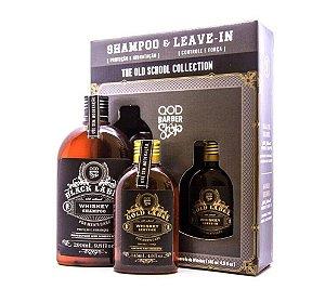 Kit QOD Barber Shop - 1 Shampoo Whiskey 290ml + 1 Leave-In Whiskey 145ml