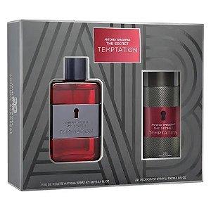 Kit The Secret Temptation Antonio Banderas Eau de Toilette 100ml + Desodorante 150ml - Masculino