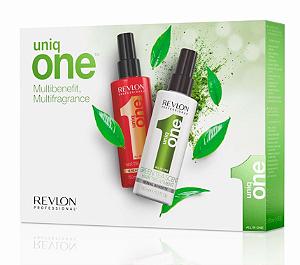 Kit Uniq One Revlon - Tratamento Capilar Classic 150ml + Tratamento Capilar Chá Verde 150ml