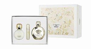 Kit Versace Eros Pour Femme Eau de Parfum 100ml + Miniatura 10ml + Body Lotion 100ml