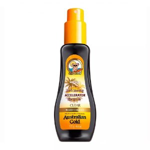 Spray Bronzeador Australian Gold Accelerator Dark Tanning Spray Gel Clear -  125g