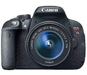 CÂMERA CANON EOS REBEL T5i LENTE 18-55mm + CAPA, TRIPÉ E SD 64GB