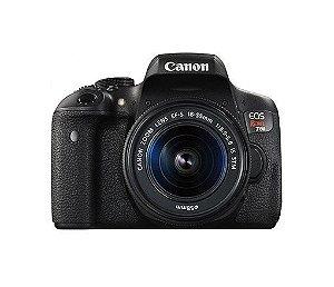 CÂMERA CANON EOS REBEL T6i LENTE 18-55mm + CAPA, TRIPÉ E SD 64GB