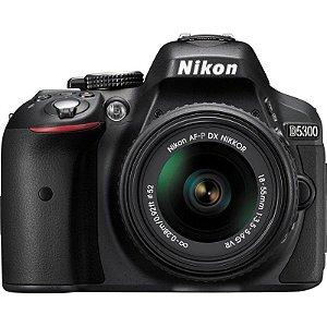 CÂMERA NIKON D5300 LENTE 18-55mm + CAPA, TRIPÉ E SD 64GB