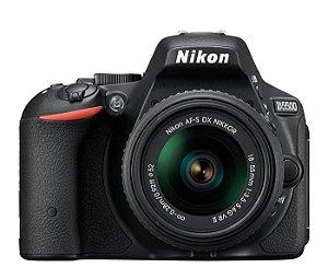 CÂMERA NIKON D5500 LENTE 18-55mm + CAPA, TRIPÉ E SD 64GB