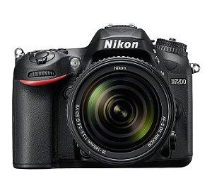CÂMERA NIKON D7200 LENTE 18-140mm + CAPA, TRIPÉ E SD 64GB