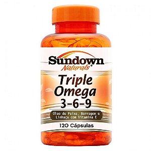 Triple Omega 3-6-9 (120 Capsulas) - Sundown Naturals