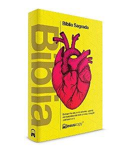 Bíblia Coração Amarela - JesusCopy