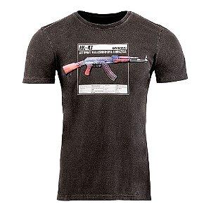 Camiseta Invictus T-shirt Concept Kalash Fuzil Ak-47 Militar