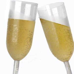Taça 220ml Champagne Transparente (4 unidades)