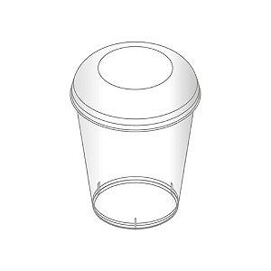 Pote Com Tampa 40ml - Transparente (10 unidades)