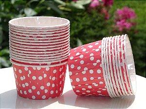 Copinho Forneável Para Mini Cupcake - Vermelho