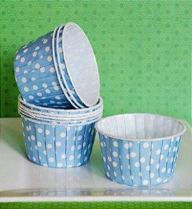 Copinho Forneável Para Mini Cupcake - Azul