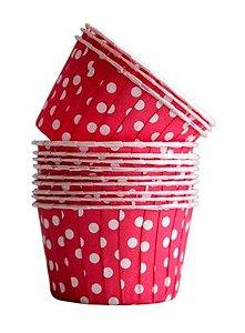 Copinho Forneável Para Cupcake - Vermelho