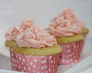 Copinho Para Cupcake Forneável- Rosa (SEM TAMPA)