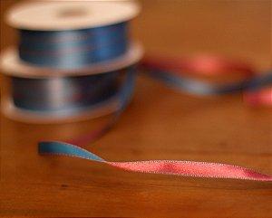 Fita Decorativa - Dupla faze azul e rosa