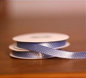 Fita Decorativa - Traçinhos azul