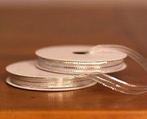 Fita Decorativa Estreita- Metálica prata