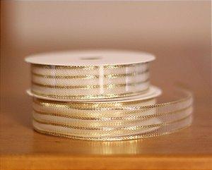 Fita Decorativa Larga- Metálica ouro