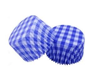 Forminha Cupcake - Xadrez - Azul