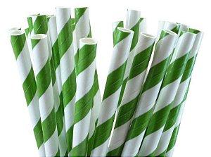 Canudo De Papel Vintage - Verde Bandeira