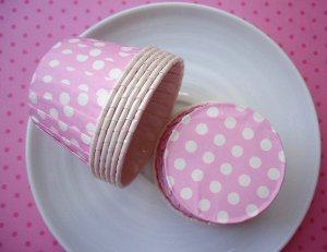 Copinho Forneável Para Mini Cupcake - Rosa