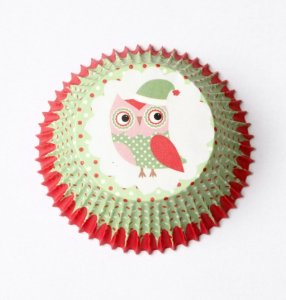 Forminha Cupcake - Corujinha Natal