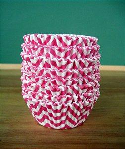 Forminha Cupcake - ZigZag Pink