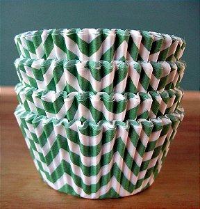Forminha Cupcake - ZigZag Verde