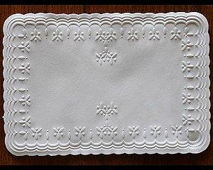 Guardanapos de Coquetel - 18,5x12,5cm - Rendado luxo