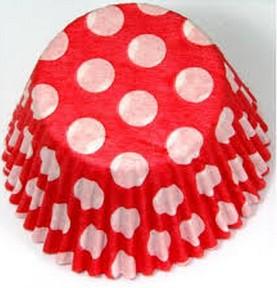 Forminha Cupcake - Vermelha Com Bolinhas Brancas