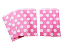Saquinhos Decorados - Pink Big Dots