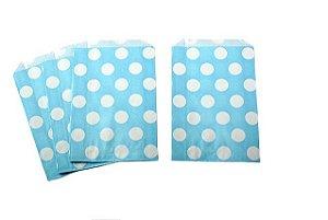 Saquinhos Decorados - Azul Bebê Big Dots  (10 unidades)