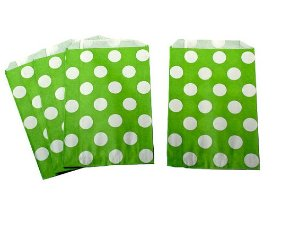Saquinhos Decorados - Verde Big Dots