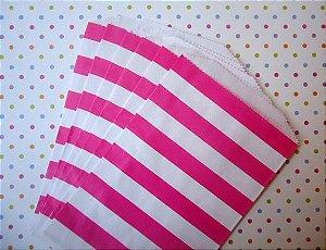 Saquinhos Decorados - Listrado Pink  (10 unidades)