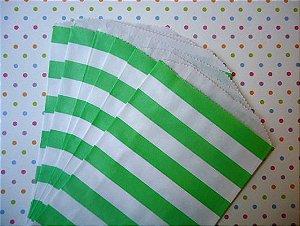 Saquinhos Decorados - Listrado Verde