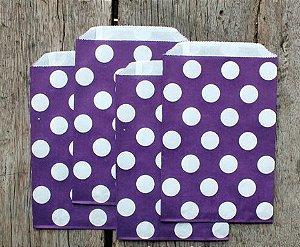 Saquinhos Decorados - Lilás  Big Dots
