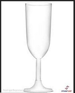 Taça De Champagne Branca - 220ml