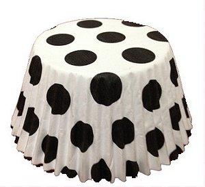Forminha Cupcake Dots Preto