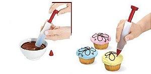 Caneta De Silicone Para Decorar Cupcakes E Bolos